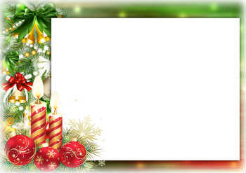 Free cards and frames for Christmas with your photo